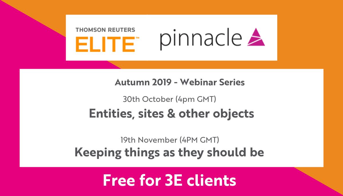Pinnacle TRE Webinars Autumn Dates News Post