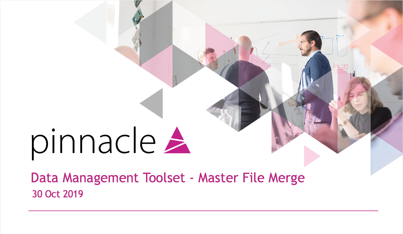 Data Management Toolset - Master File Merge