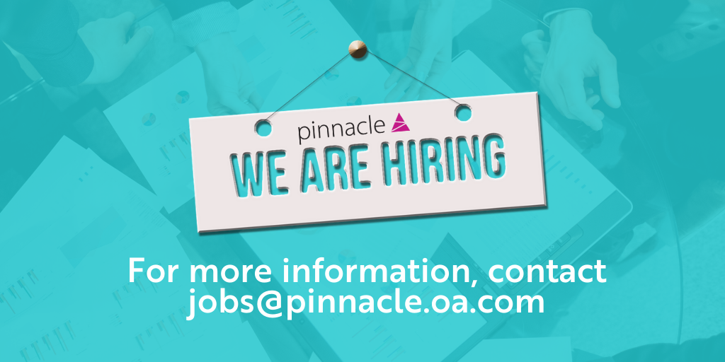 Pinnacle are hiring new talent