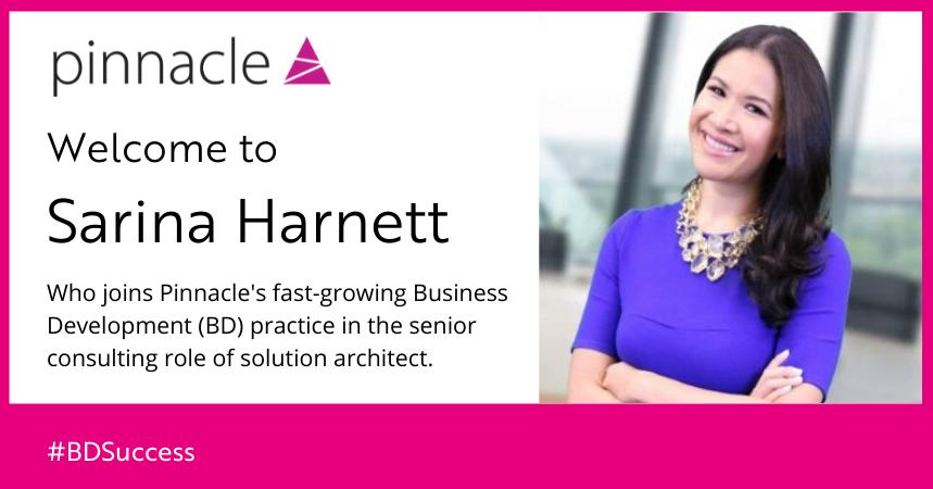 Sarina Harnett joins Pinnacle as solution architect