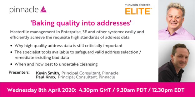 Webinar Masterfile Management in Enterprise, 3E and other systems