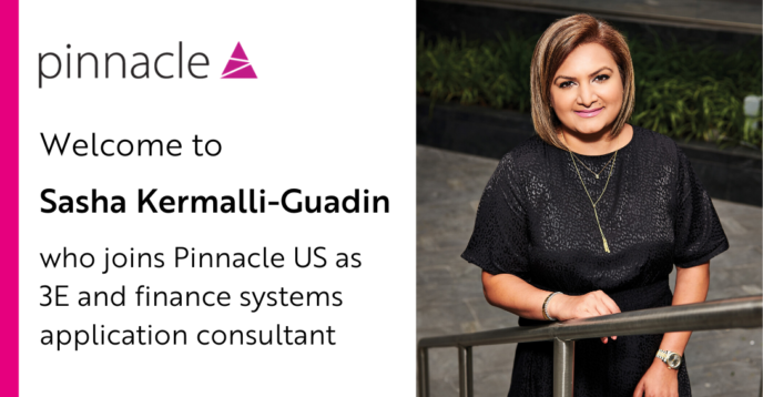 Sasha Kermalli Gaudin joins Pinnacle US as 3E and finance systems application consultant