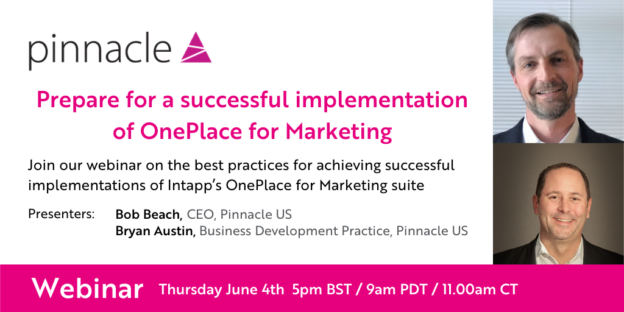 Webinar Successful implementation of Intapp OnePlace for Marketing