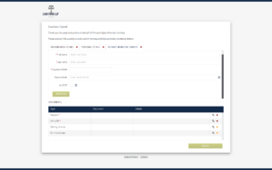 Intapp Client Portal branded client registration form