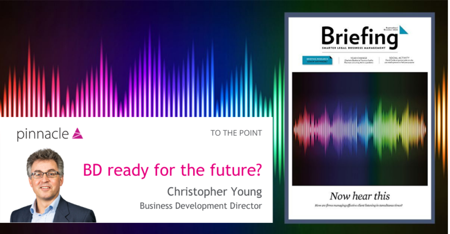 Briefing article BD ready for the future? by Christopher Young Pinnacle BD Director
